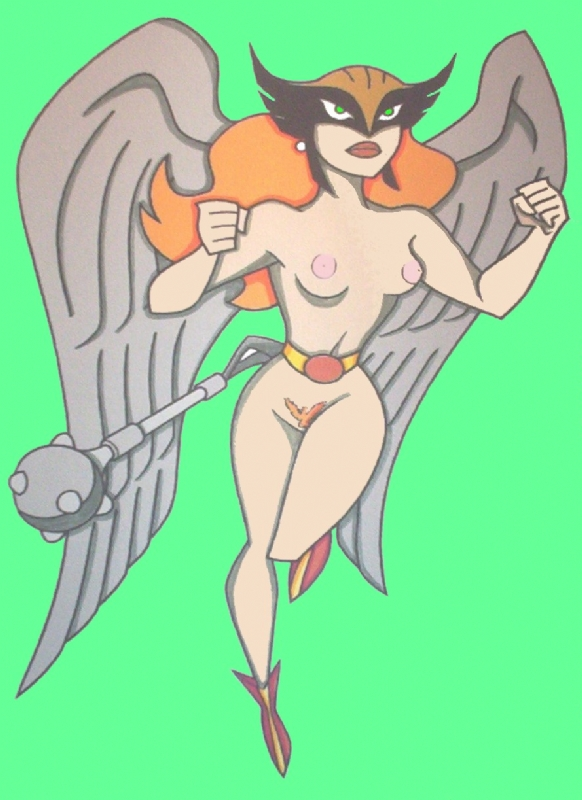 Hawk girl nude Comic Art